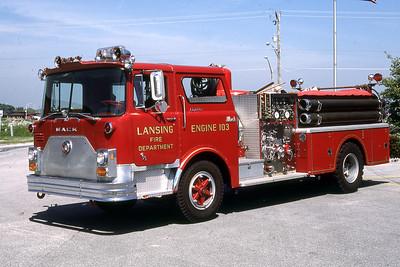 LANSING FD  ENGINE 103  1974  MACK CF - 1250-500   GARY KADZ PHOTO