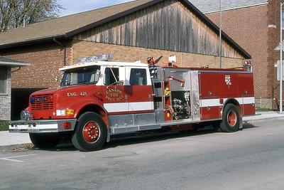 LANARK FPD  ENGINE 421  1993  IHC 4900- PIERCE   1250-1000        MARK MITCHELL PHOTO
