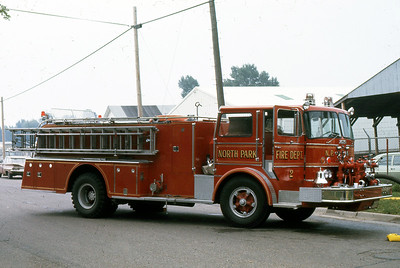 NORTH PARK FD  ENGINE 802  FORD C - HOWE   AT 1973  MONROE FIRE SCHOOL
