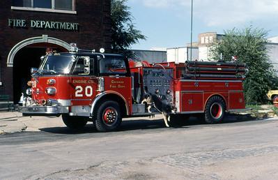 CHICAGO FD  ENGINE 20  1978  ALFCO CENTURY   1500-500   AND MASCOT