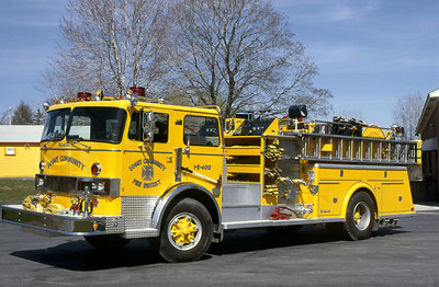 BOGUT COMMUNITY FIRE DISTRICT - TOWN OF COLONIE NY  ENGINE 1-400  1977  HENDRICKSON - YOUNG   1250-500