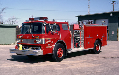 FRANKLIN FD WI  ENGINE 205  1983  FORD C - 3-D   1000-750   MARK MITCHELL PHOTO