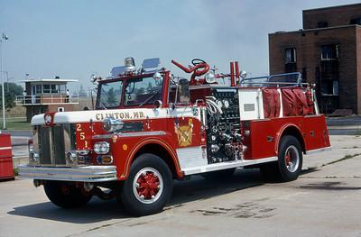 CLINTON FD MD  ENGINE 251  MAXIM
