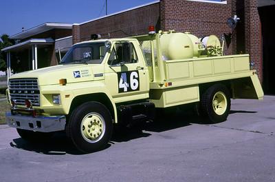 BOWMAN FIELD - LOUISVILLE KY  CFR 46  1984  FORD F - MANNING-GLOBAL   500 PK - 300 SFFF