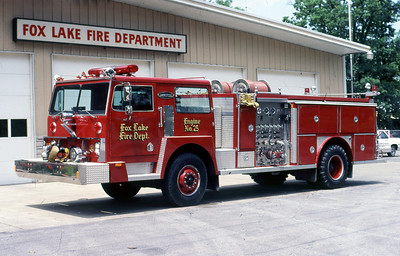 FOX LAKE FD  ENGINE 25  HENDRICKSON - E-ONE