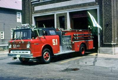 CHICAGO FD  ENGINE 51  1969  FORD C - WLF   1000-500