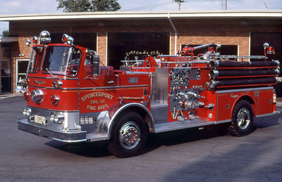 SPENCERPORT FD NY  ENGINE 95  1967  SEAGRAVE   1250-500    LEO DULIBA PHOTO
