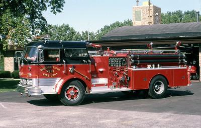 CHICAGO RIDGE FD  ENGINE 95  MACK C95   1000-500