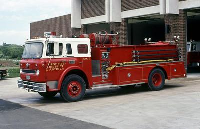 ANTIOCH FIRST FIRE DISTRICT  ENGINE 3  IHC - PIRSCH