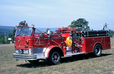 SCOTIA FIRE COMPANY NY  ENGINE 1  1964  MACK C85   1250-500