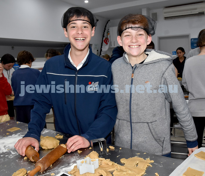 JEMS honey biscuit bake at OBK. Anthony Fooks (left), Nathan Abrahams. Pic Noel Kessel