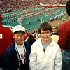 2. With our next door neighbor, Brian     . The Tide defeated Southern Mississippi's Golden Eagles 37 to 14. Jeremiah has always been a bigger Alabama fan than a Tennessee fan. Go figure.