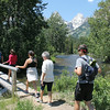 6. Plan B was to drive into the park and have lunch at Geraldine Lucas' old homestead site. We crossed Cottonwood Creek on a foot bridge,