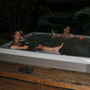 18. Jeremiah and Mary Clare wrapped up his birthday with a soak in the hot tub.