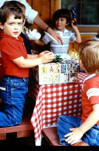 1. July, 1983, I was preparing to head out to Oklahoma City for ATC training in early August. I know we must have had a party for Jeremiah, but I can't find any pics. Maybe there are some movies. Anyway, this was a summer party at Josh Allen's house at about the same time.