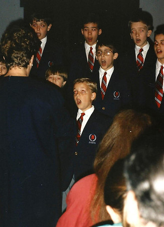 Jeremiah and the Alabama Boy Choir in England  March '92