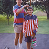 8. My dad always wanted to pose with me on my Fourth of July birthday every year. Guess this was about 1992, in Fall Branch, TN. Remind me to tell you what happened to that video camera that was sitting on the ground in this picture. Good story.  ps- dad had this flag shirt made in Iwakuni, Japan when he was stationed there in 1972. As of 2011, mom still has it.