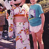 5. Of course, Mickey and Minnie asked me to their place in Florida in 1988, then Mickey got distracted and left, just as we were posing.
