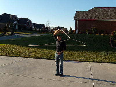 Roping with Jeremiah at Thanksgiving 08