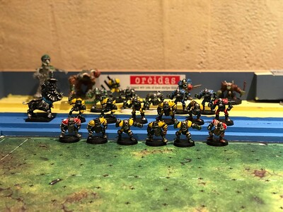 Original Orc Blood Bowl team 12 players 60$ (1 thrower, 2 catchers, 3 Blockers, 1 Blitzer and 5 Linemen) for all 19 players 100$ (add 1 Blitzer, 1 Blocker, 1 Thrower, 1 Kicker and 3 Star Players)