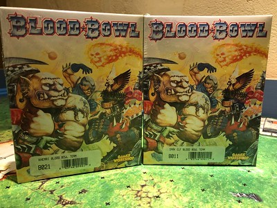 Sealed boxes KHEMRI and DARK ELF Blood Bowl Teams 50$ each