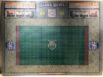 Double sided custom Blood Bowl Board with Blood Bowl 7 on the back 100$