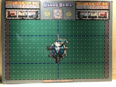 Double sided custom Blood Bowl Board with Blood Bowl 7 on the back 100$.