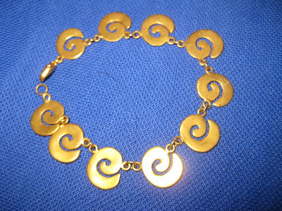 Made in Costa Rica Spiral bracelet (Smaller)    $60