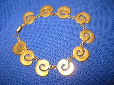 Made in Costa Rica Spiral bracelet (Smaller)    $60