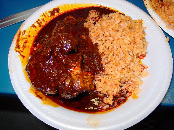 Chicken Mole, Served at our Christmas Potluck. December 21st 2007.