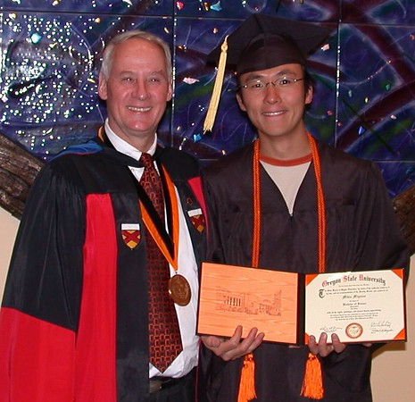 Mikio Miyazoe - ex Dept 62 intern and JFS employee is awarded his well deserved Bachelors degree June 13th 2004.