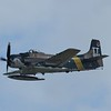 A-1 Skyraider! The last propleller fighter that served in the jet age. This aircraft most saw action in Vietnam as a ground attack aircraft. It could a variety of weapons.