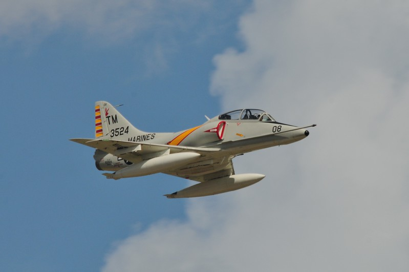 Another favorite fighter aircraft from the Vietnam War. The A-4 Skyhawk. When I went to my first Blue Angels in 86' they were using this plane. Sen. John McCain flew this plane and was shot down in this plane and was a POW during the war.