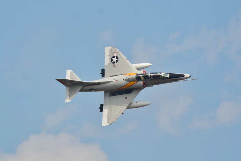 I love this banking photo I got as the A-4 Skyhawk flew by show center.