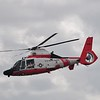 And we kick off with a coast guard demonstration of their Dolphin helicopter. This is what they would use for rescues.