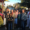 Dr. Goodall and her family touring the floats at the Tournament of Roses.