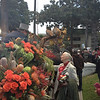 Dr. Goodall meeting her Tournament of Roses carriage driver and preparing for the beginning of the Rose Parade.