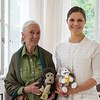 Jane Goodall and The Crown Princess during the meeting at Haga Palace. Photo: David Sica/Stella Pictures