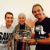 Dr. Jane Goodall pictured with Lars and Ragnhild Jacobsson from The Perfect World Foundation.