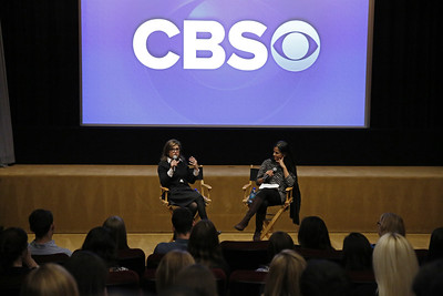 Nina Tassler (CBS) (left) and Bela Bajaria (Universal Television) (right)