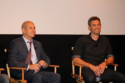 Brent Weinstein (UTA) (left) and Mike Farah (Funny Or Die) (right)