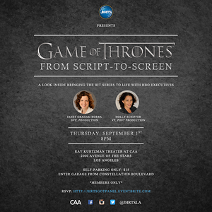 JHRTS Game of Thrones: From Script to Screen (9/1/16)