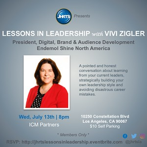 JHRTS Lessons in Leadership with Vivi Zigler (7/13/16)
