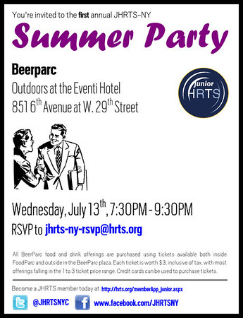 JHRTS-NY Summer Party