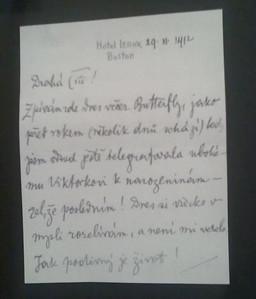 Dopis sestře, zvané Čiči