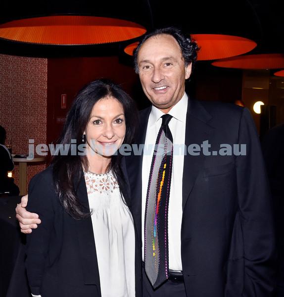 JIFF opening night at Event Cinemas in Bondi Junction. Lyndi and Rodney Adler. Pic Noel Kessel.