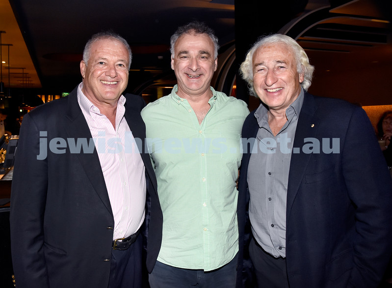 JIFF opening night at Event Cinemas in Bondi Junction. (from left) Ziggy Sieradski, Stephen Rosanove, Peter Ivany. Pic Noel Kessel.