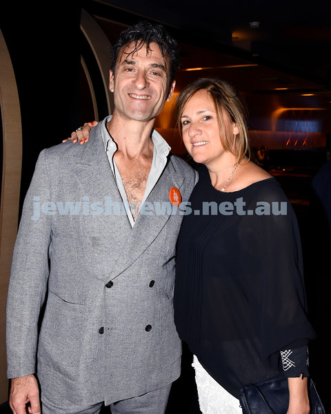 JIFF opening night at Event Cinemas in Bondi Junction. Eddie and Lindy Tamir. Pic Noel Kessel.