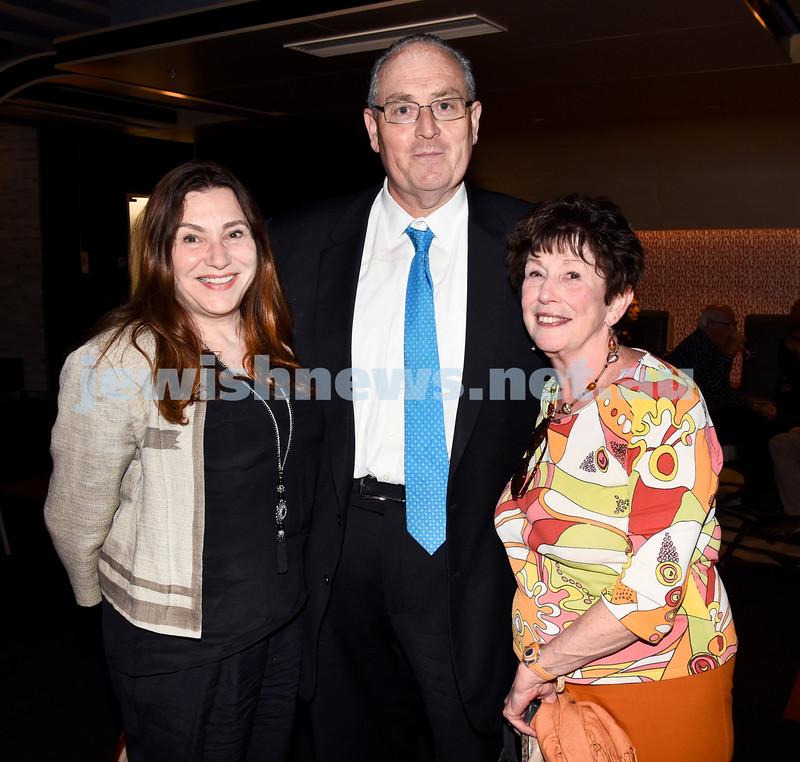 JIFF opening night at Event Cinemas in Bondi Junction. (from left) Julia Levitima, Walt Secord, Anna Berger. Pic Noel Kessel.