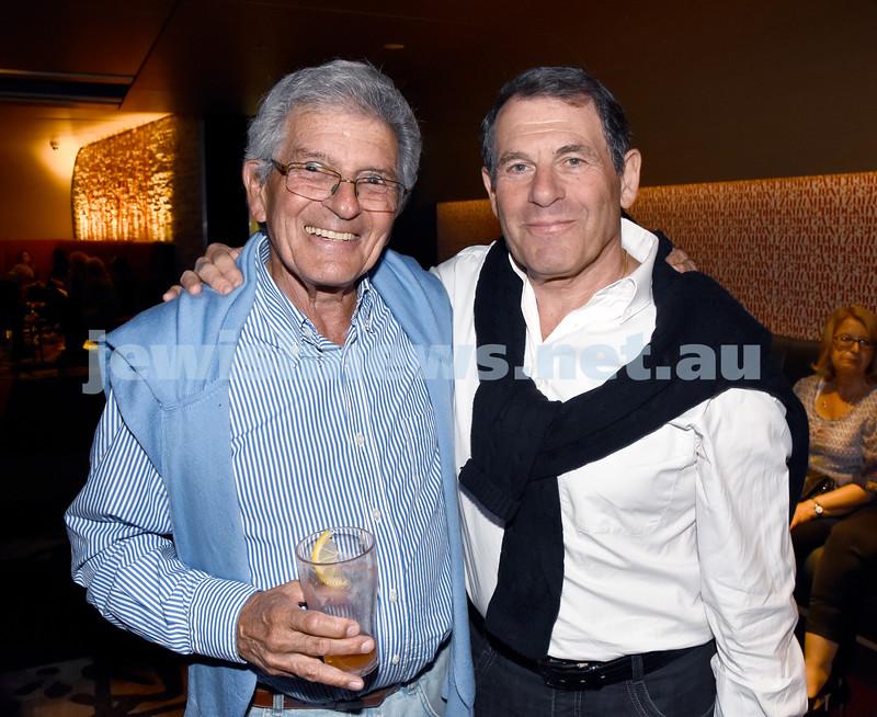 JIFF opening night at Event Cinemas in Bondi Junction. Errol Kaplan (left), David Michaels. Pic Noel Kessel.